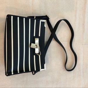 Handbags - Cute cream and black striped purse
